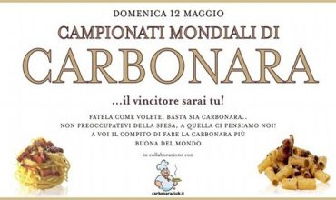 In arrivo i primi Campionati Mondiali di Carbonara!